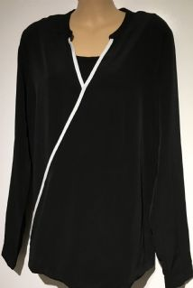 MAMALICIOUS BLACK LONG SLEEVED NURSING TOP SIZE L 14-16